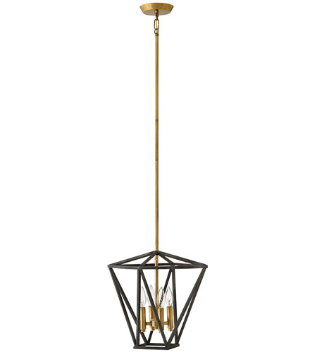Hinkley 3574DZ Theory 4 Light 15 inch Aged Zinc Pendant Ceiling Light photo