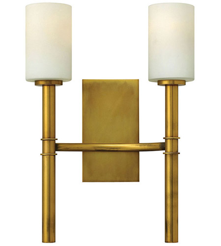 Hinkley Lighting Margeaux 2 Light Wall Sconce in Vintage Brass 3582VS