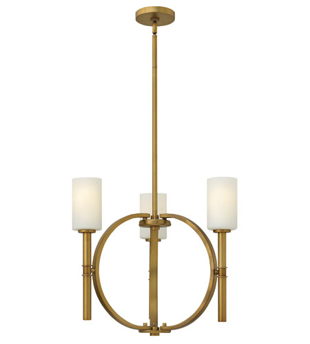Hinkley Lighting Margeaux 3 Light Chandelier in Vintage Brass 3583VS