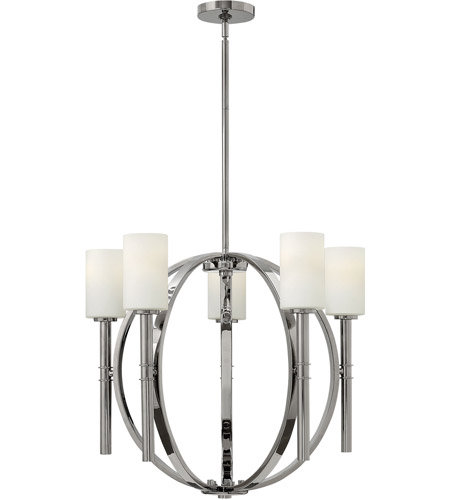 Hinkley Lighting Margeaux 5 Light Chandelier in Polished Nickel 3585PN