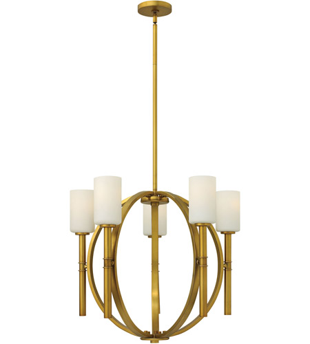 Hinkley Lighting Margeaux 5 Light Chandelier in Vintage Brass 3585VS