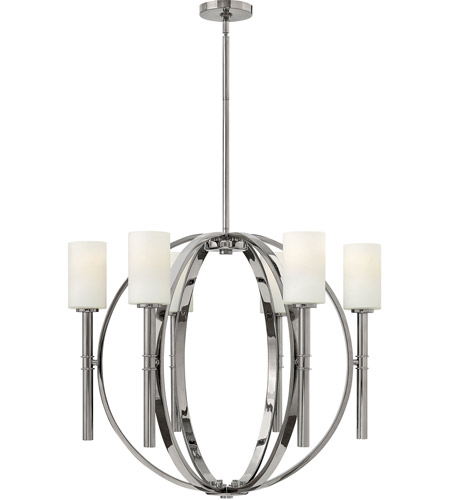 Hinkley Lighting Margeaux 6 Light Chandelier in Polished Nickel 3586PN