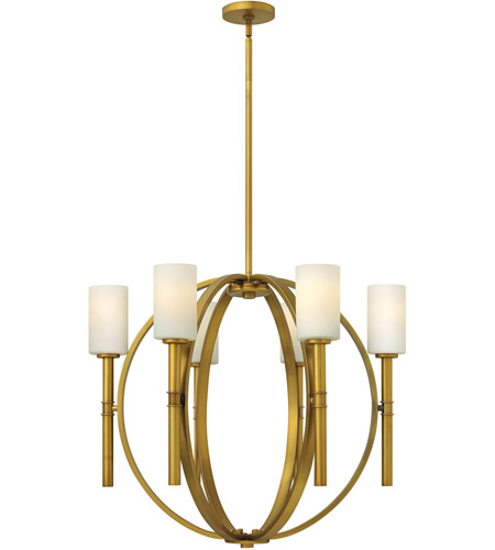 Hinkley 3586VS Margeaux 6 Light 29 inch Vintage Brass Chandelier Ceiling Light photo