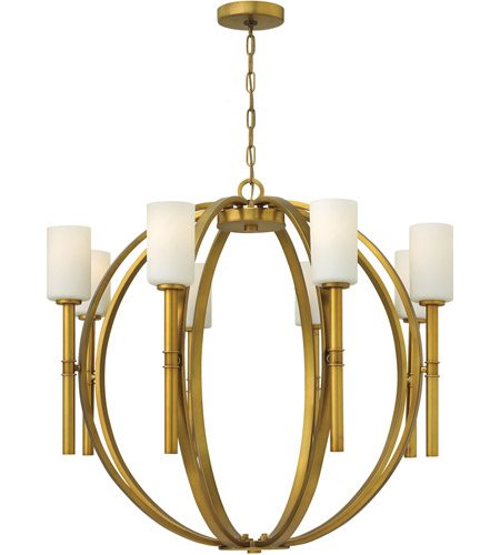 Hinkley 3588VS Margeaux 8 Light 36 inch Vintage Brass Chandelier Ceiling Light photo