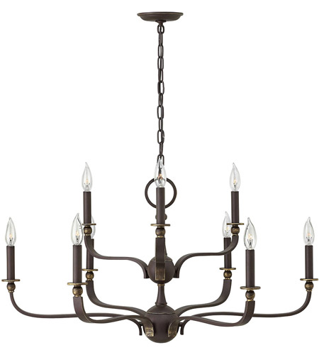Hinkley 3599OZ Rutherford 9 Light 34 inch Oil Rubbed Bronze Chandelier Ceiling Light photo