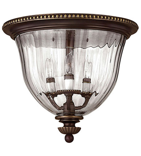 Hinkley Lighting Cambridge 3 Light Flush Mount in Olde Bronze 3612OB photo