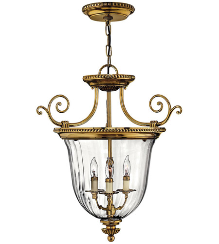 Hinkley 3613BB Cambridge 3 Light 21 inch Burnished Brass Foyer Pendant Ceiling Light photo