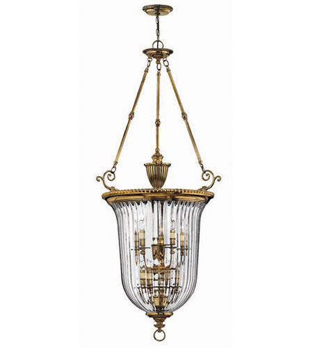 Hinkley Lighting Cambridge 10 Light Hanging Foyer in Burnished Brass 3615BB photo