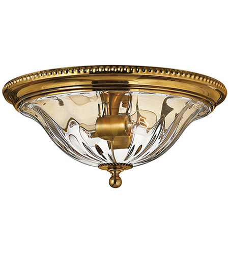 Hinkley Lighting Cambridge 2 Light Flush Mount in Burnished Brass 3616BB photo
