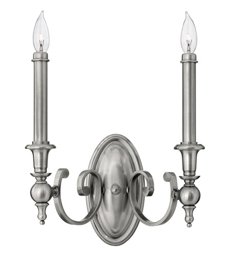 Hinkley Lighting Yorktown 2 Light Sconce in Antique Nickel 3622AN photo