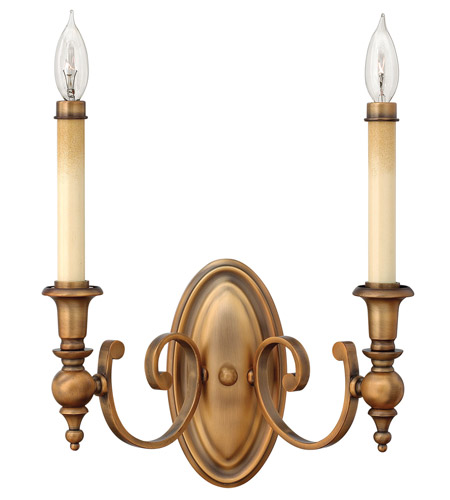Hinkley Lighting Yorktown 2 Light Sconce in Brushed Bronze 3622BR