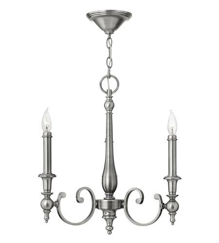 Hinkley 3623AN Yorktown 3 Light 2 inch Antique Nickel Chandelier Ceiling Light photo