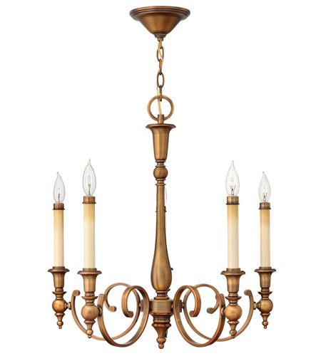 Hinkley 3625BR Yorktown 5 Light 24 inch Brushed Bronze Chandelier Ceiling Light photo
