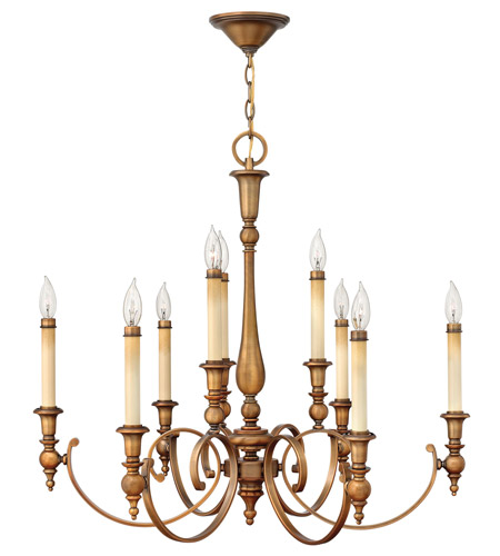Hinkley 3628BR Yorktown 9 Light 32 inch Brushed Bronze Chandelier Ceiling Light photo