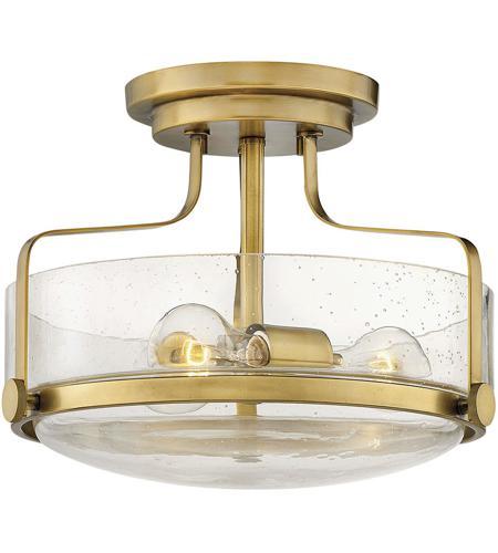 Hinkley 3641hb Cs Harper 3 Light 15 Inch Heritage Brass Foyer Semi Flush Ceiling Light