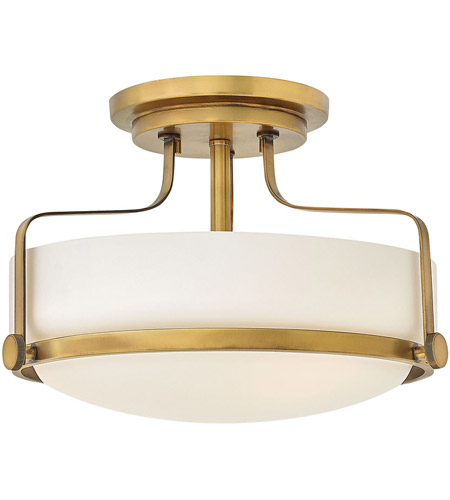 Hinkley 3641hb Harper 3 Light 15 Inch Heritage Br Foyer Semi Flush Mount Ceiling