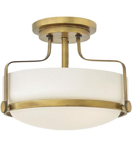 Light 15 Inch Heritage Br Semi Flush