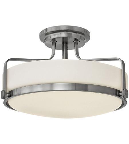 Light 18 Inch Brushed Nickel Semi Flush