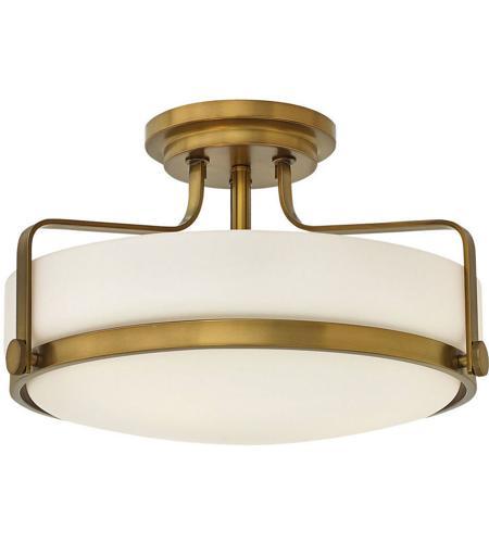 for Low Ceiling Modern 3 Light Chrome Semi Flush Ceiling Light with Opal Glass