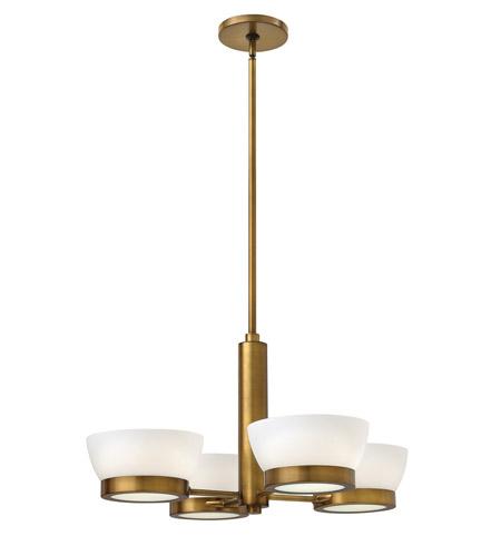 Hinkley Lighting Mercer: Hinkley 3654HB Mercer 4 Light 28 Inch Heritage Brass