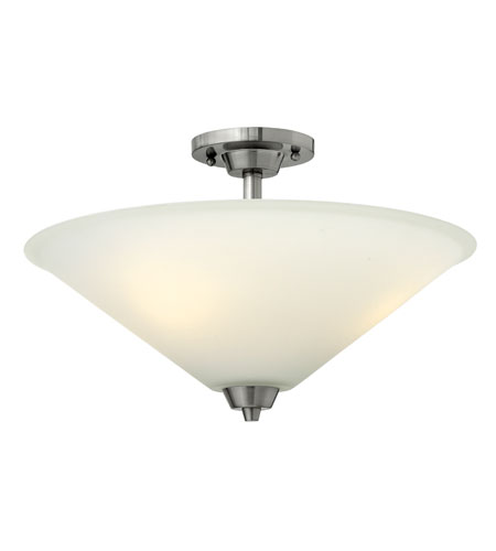 Hinkley Lighting Dillon 3 Light Semi Flush in Brushed Nickel 3662BN
