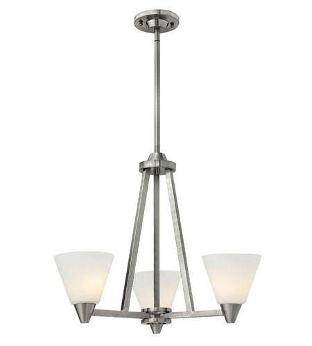 Hinkley Lighting Dillon 3 Light Chandelier in Brushed Nickel 3663BN