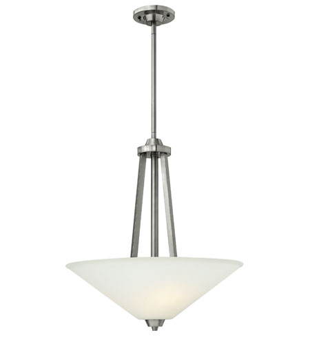 Hinkley 3664BN Dillon 3 Light 20 inch Brushed Nickel Foyer Ceiling Light photo