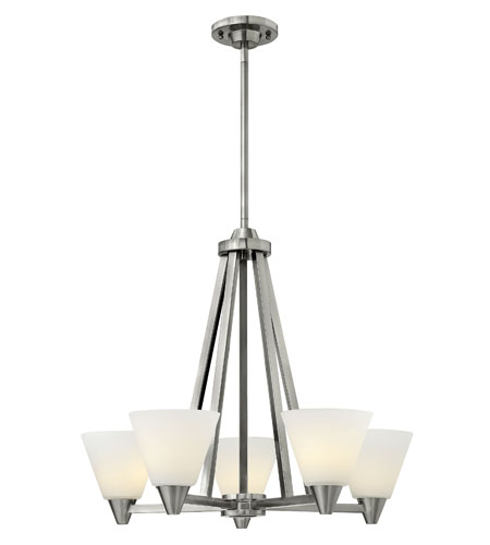Hinkley Lighting Dillon 5 Light Chandelier in Brushed Nickel 3665BN