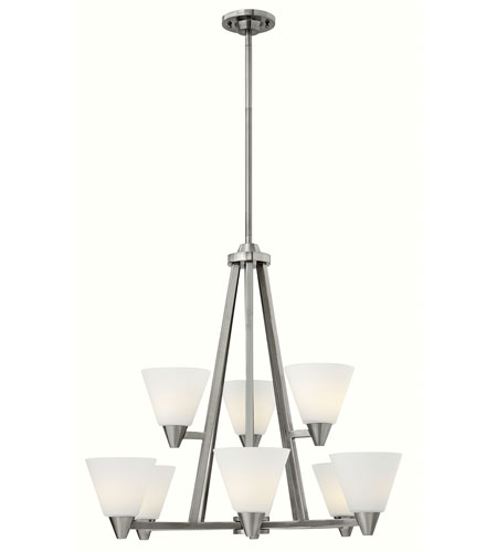 Hinkley Lighting Dillon 9 Light Chandelier in Brushed Nickel 3668BN