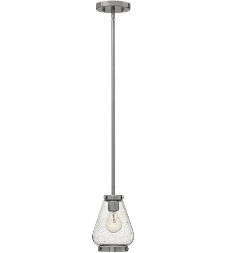 Hinkley Lighting Finley 1 Light Mini-Pendant in Brushed Nickel 3687BN