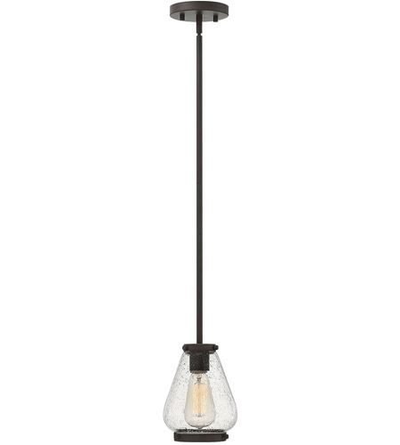 Hinkley 3687OZ Finley 1 Light 6 inch Oil Rubbed Bronze Mini-Pendant Ceiling Light, Clear Glass photo