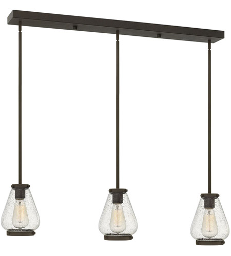 Hinkley 3689oz finley 3 light 36 inch oil rubbed bronze pendant hinkley 3689oz finley 3 light 36 inch oil rubbed bronze pendant ceiling light clear seedy glass mozeypictures Images