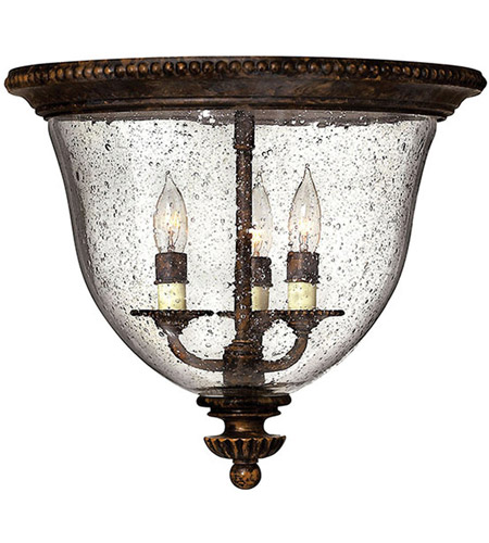 Hinkley 3712FB Rockford 3 Light 15 inch Forum Bronze Foyer Flush ...