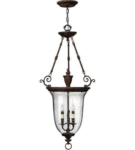 Hinkley 3714FB Rockford 3 Light 23 Inch Forum Bronze Foyer Light Ceiling Light