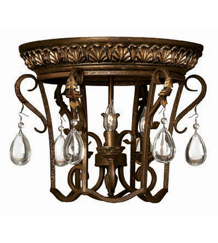 Hinkley Lighting Veranda 3 Light Flush Mount in Summerstone 3723SU
