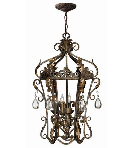 Hinkley Lighting Veranda 4 Light Hanging Foyer in Summerstone 3724SU photo