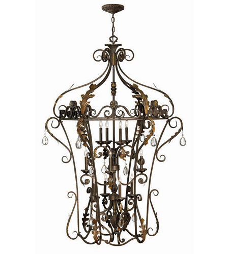 Hinkley Lighting Veranda 12 Light Hanging Foyer in Summerstone 3729SU