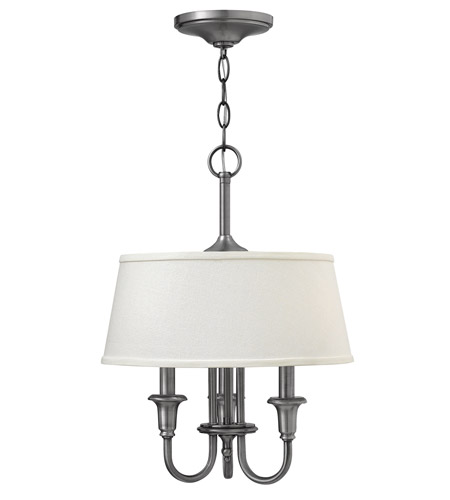Hinkley 3734AN Webster 3 Light 14 inch Antique Nickel Hanging Foyer Ceiling Light photo