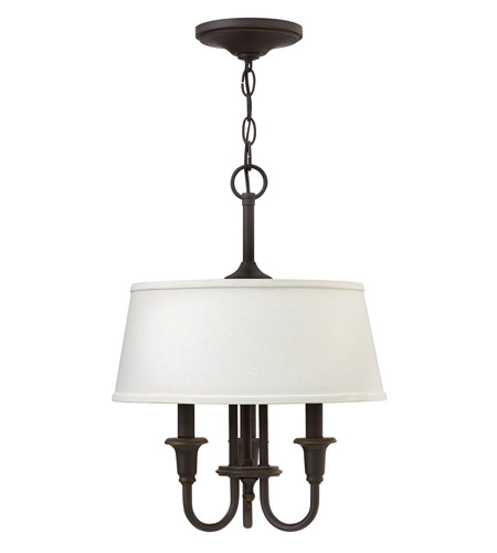 Hinkley 3734OZ Webster 3 Light 14 inch Oil Rubbed Bronze Hanging Foyer Ceiling Light photo