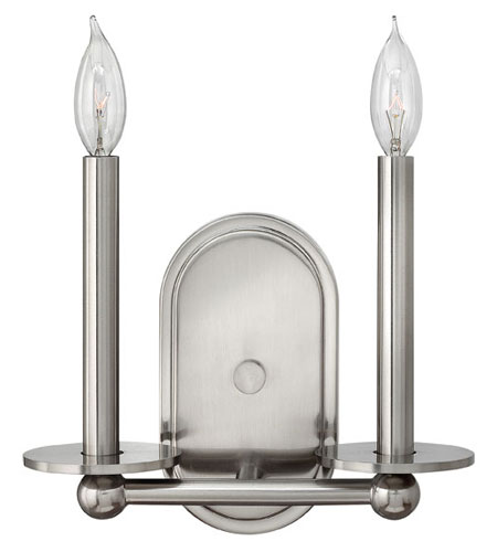 Hinkley 3742BN Piedmont 2 Light 11 inch Brushed Nickel Sconce Wall Light photo