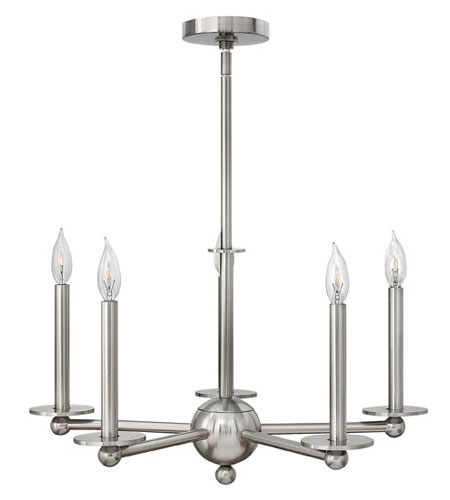 Hinkley Lighting Piedmont 5 Light Chandelier in Brushed Nickel 3745BN