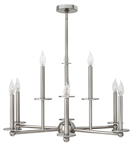 Hinkley Lighting Piedmont 9 Light Chandelier in Brushed Nickel 3748BN