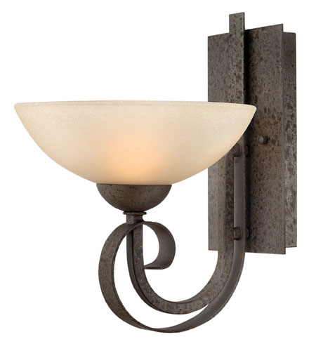 Hinkley Lighting Middlebury 1 Light Sconce in Forged Iron 3760FI photo