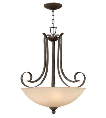 Hinkley Lighting Middlebury 3 Light Hanging Foyer in Forged Iron 3762FI photo