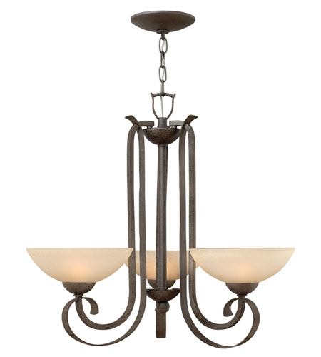 Hinkley Lighting Middlebury 3 Light Chandelier in Forged Iron 3763FI photo