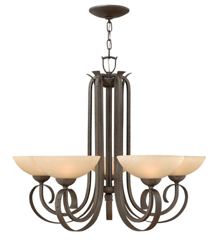 Hinkley 3765FI Middlebury 5 Light 33 inch Forged Iron Chandelier Ceiling Light photo