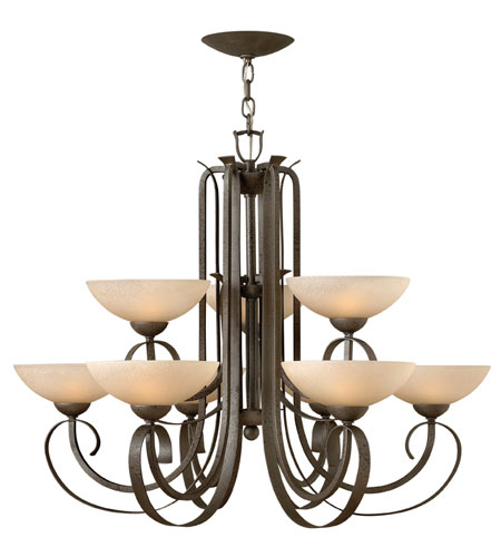 Hinkley Lighting Middlebury 9 Light Chandelier in Forged Iron 3768FI