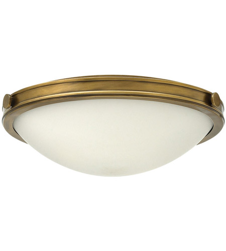 Hinkley 3783HB Maxwell 3 Light 19 inch Heritage Brass Foyer Flush Mount Ceiling Light in Incandescent, Etched Opal Glass photo