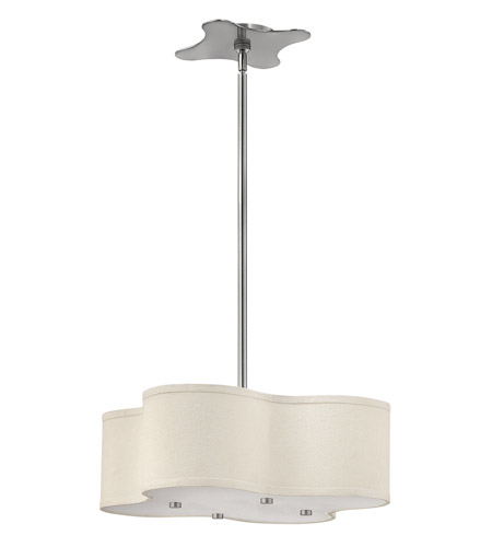 Hinkley 3804BN Cirrus 4 Light 20 inch Brushed Nickel Hanging Foyer Ceiling Light in Incandescent photo