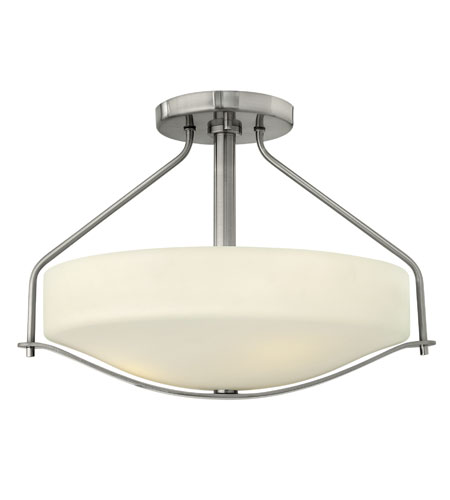 Hinkley Lighting Pelham 3 Light Foyer in Brushed Nickel 3821BN